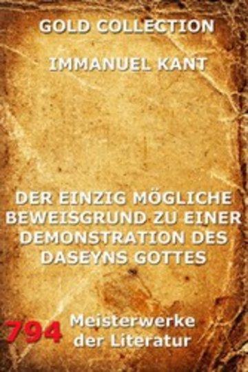 eBook Der einzig mögliche Beweisgrund zu einer Demonstration des Daseyn Gottes Cover