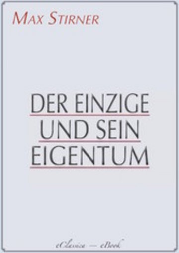 eBook Der Einzige und sein Eigentum Cover