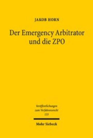eBook Der Emergency Arbitrator und die ZPO Cover