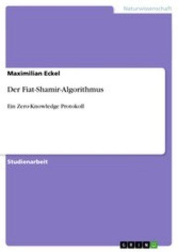 eBook Der Fiat-Shamir-Algorithmus Cover