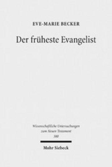 eBook Der früheste Evangelist Cover