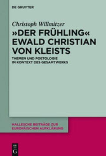 eBook 'Der Frühling' Ewald Christian von Kleists Cover