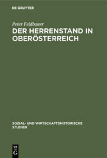 eBook Der Herrenstand in Oberösterreich Cover