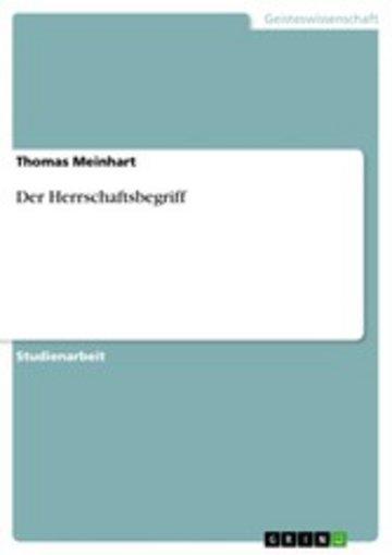 eBook Der Herrschaftsbegriff Cover