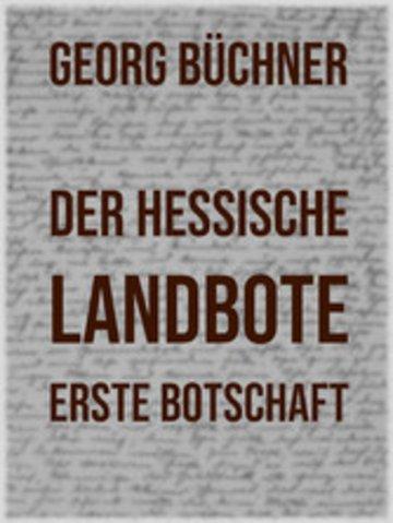eBook Der Hessische Landbote Cover
