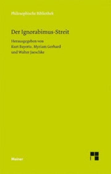 eBook Der Ignorabimus-Streit Cover