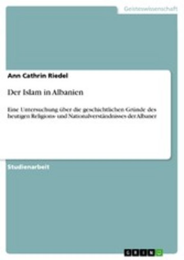 eBook Der Islam in Albanien Cover