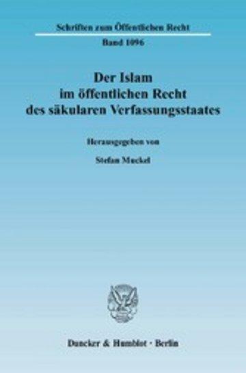 eBook Der Islam im öffentlichen Recht des säkularen Verfassungsstaates. Cover