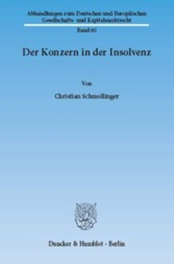 eBook Der Konzern in der Insolvenz. Cover