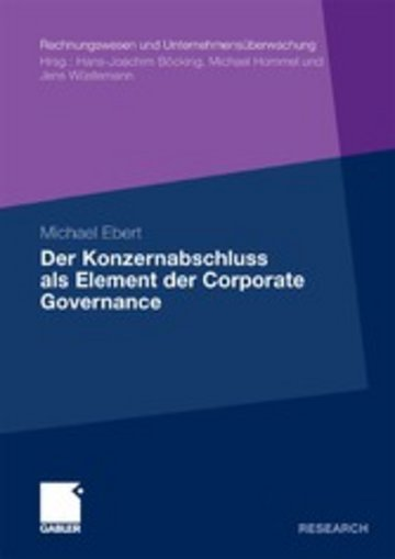 eBook Der Konzernabschluss als Element der Corporate Governance Cover