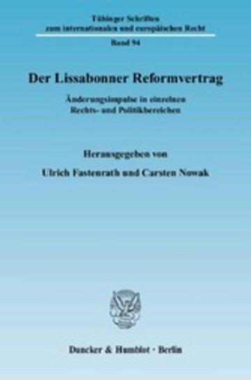 eBook Der Lissabonner Reformvertrag. Cover