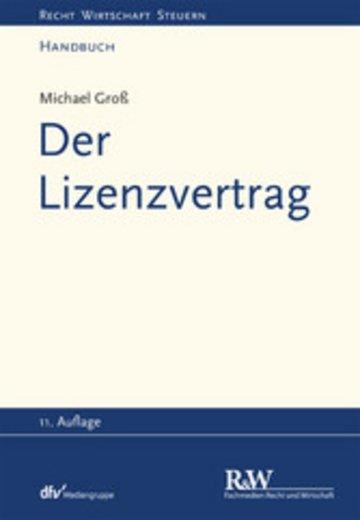 eBook Der Lizenzvertrag Cover