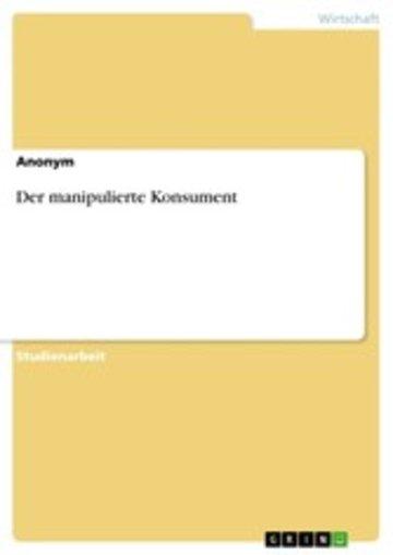 eBook Der manipulierte Konsument Cover