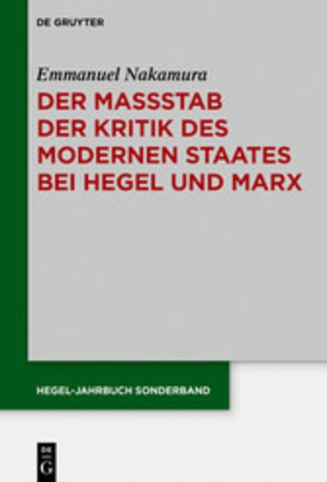 eBook Der Maßstab der Kritik des modernen Staates bei Hegel und Marx Cover