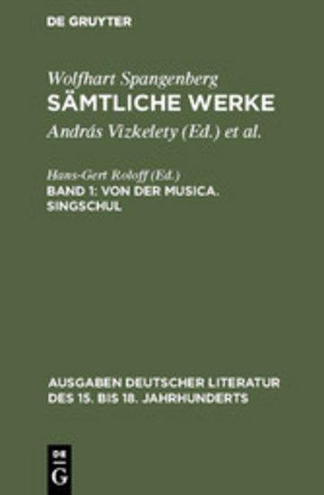 eBook Von der Musica. Singschul Cover