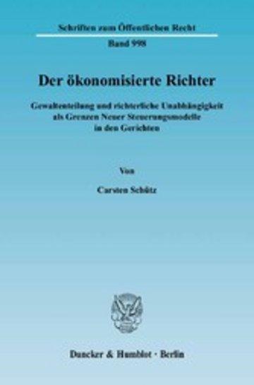 eBook Der ökonomisierte Richter. Cover