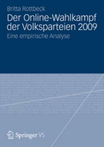 eBook Der Online-Wahlkampf der Volksparteien 2009 Cover