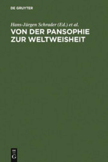 eBook Von der Pansophie zur Weltweisheit Cover