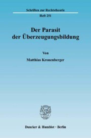 eBook Der Parasit der Überzeugungsbildung. Cover