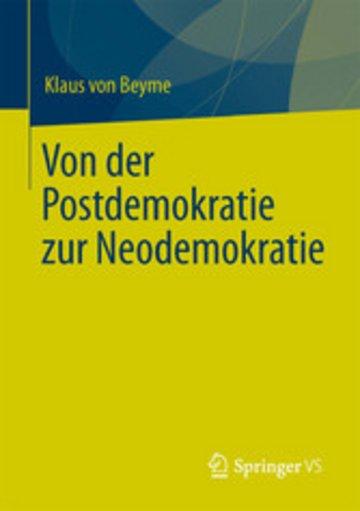 eBook Von der Postdemokratie zur Neodemokratie Cover