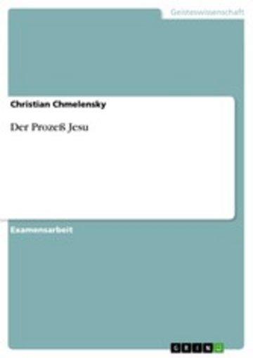eBook Der Prozeß Jesu Cover