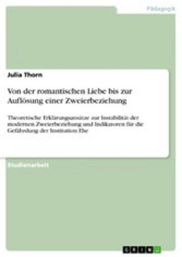 eBook Von der romantischen Liebe bis zur Auflösung einer Zweierbeziehung Cover