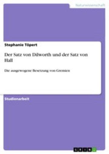 eBook Der Satz von Dilworth und der Satz von Hall Cover