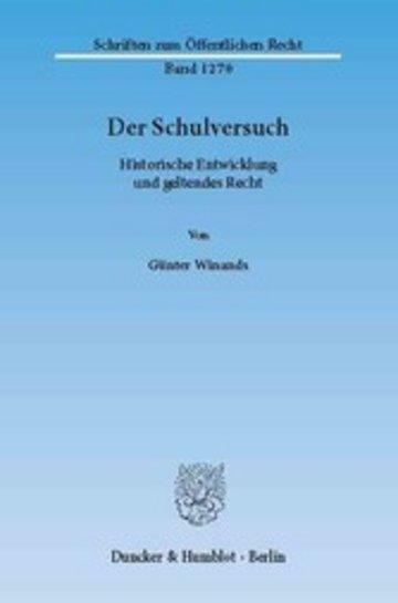 eBook Der Schulversuch. Cover