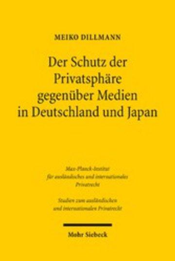 eBook Der Schutz der Privatsphäre gegenüber Medien in Deutschland und Japan Cover