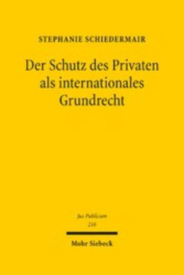eBook Der Schutz des Privaten als internationales Grundrecht Cover