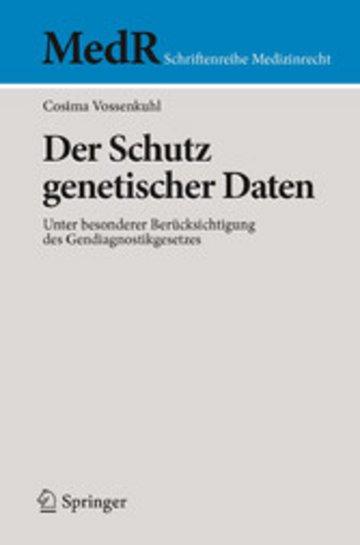 eBook Der Schutz genetischer Daten Cover