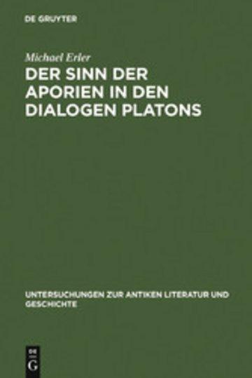 eBook Der Sinn der Aporien in den Dialogen Platons Cover