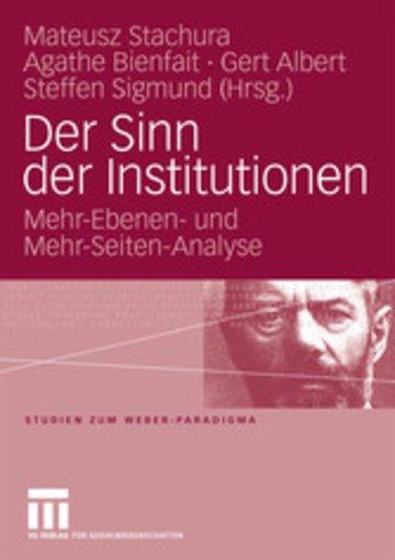 eBook Der Sinn der Institutionen Cover