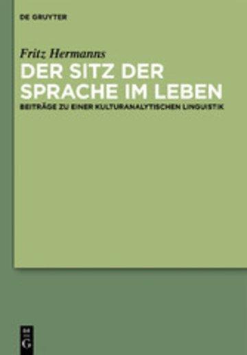 eBook Der Sitz der Sprache im Leben Cover
