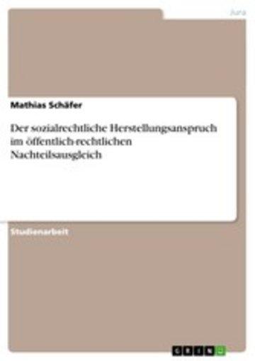 eBook Der sozialrechtliche Herstellungsanspruch im öffentlich-rechtlichen Nachteilsausgleich Cover
