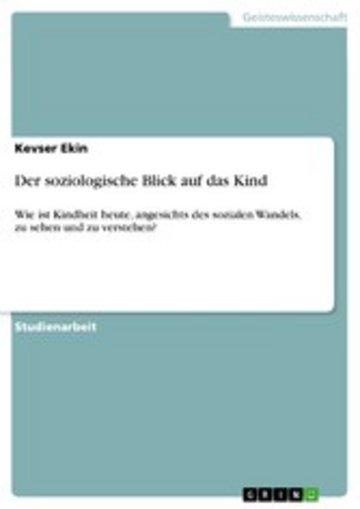 eBook Der soziologische Blick auf das Kind Cover