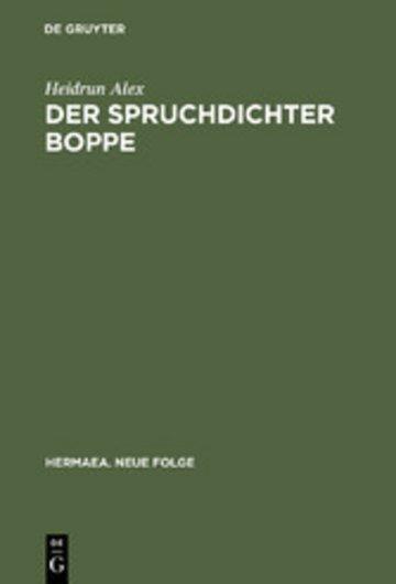 eBook Der Spruchdichter Boppe Cover