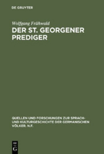 eBook Der St. Georgener Prediger Cover