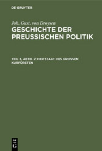 eBook Der Staat des grossen Kurfürsten Cover