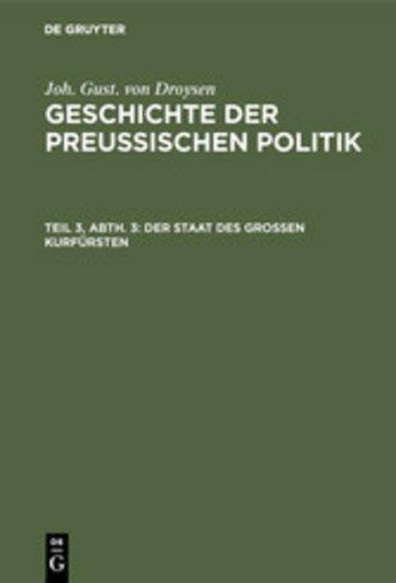 eBook Der Staat des grossen Kurfürsten Cover