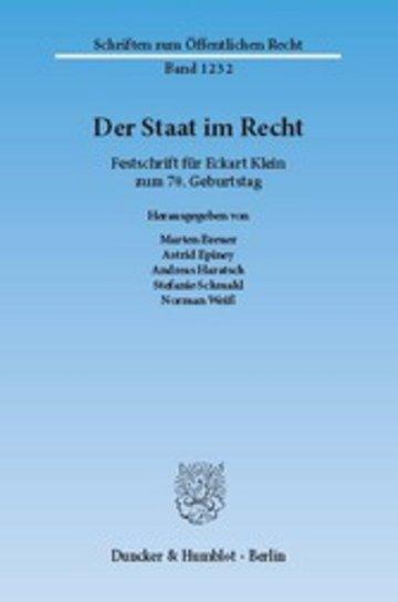 eBook Der Staat im Recht. Cover