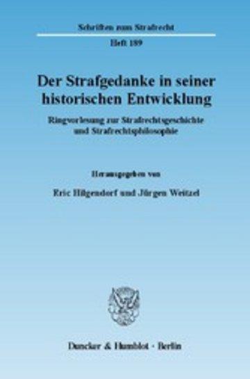 eBook Der Strafgedanke in seiner historischen Entwicklung. Cover