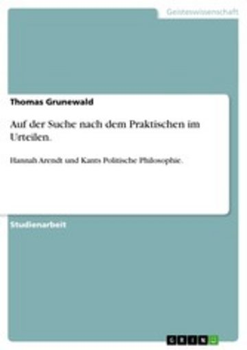 eBook Auf der Suche nach dem Praktischen im Urteilen. Cover