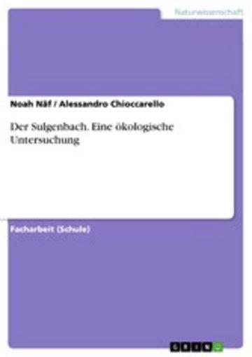 eBook Der Sulgenbach. Eine ökologische Untersuchung Cover