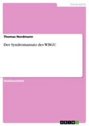 eBook Der Syndromansatz des WBGU Cover