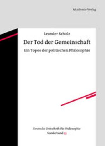 eBook Der Tod der Gemeinschaft Cover