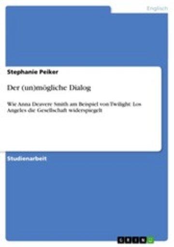eBook Der (un)mögliche Dialog Cover