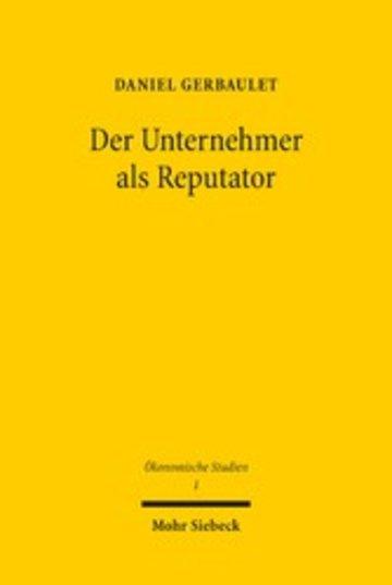 eBook Der Unternehmer als Reputator Cover