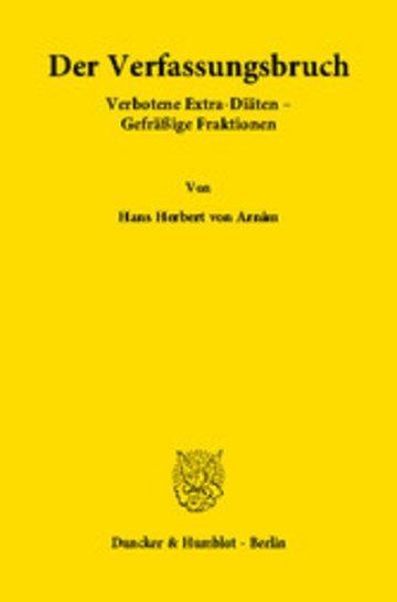 eBook Der Verfassungsbruch Cover