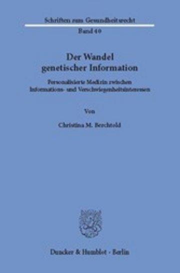 eBook Der Wandel genetischer Information. Cover